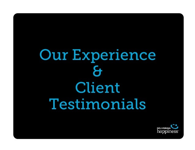 Our Experience & Client Testimonials