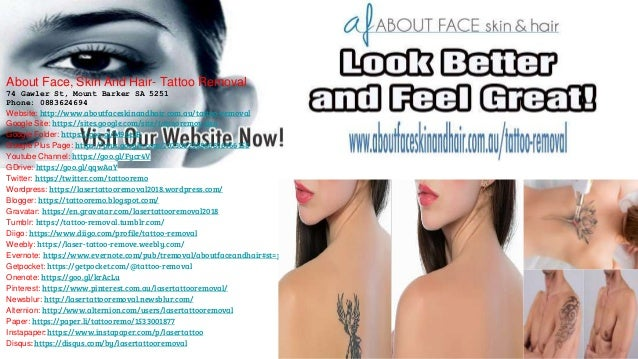 About Face, Skin And Hair - Tattoo Removal