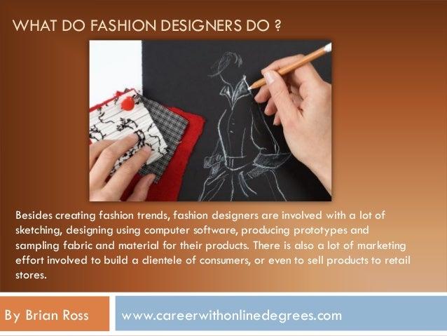 About Fashion Designer Career Information Planning