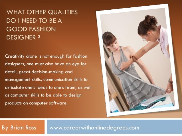 About Fashion Designer Career Information Planning