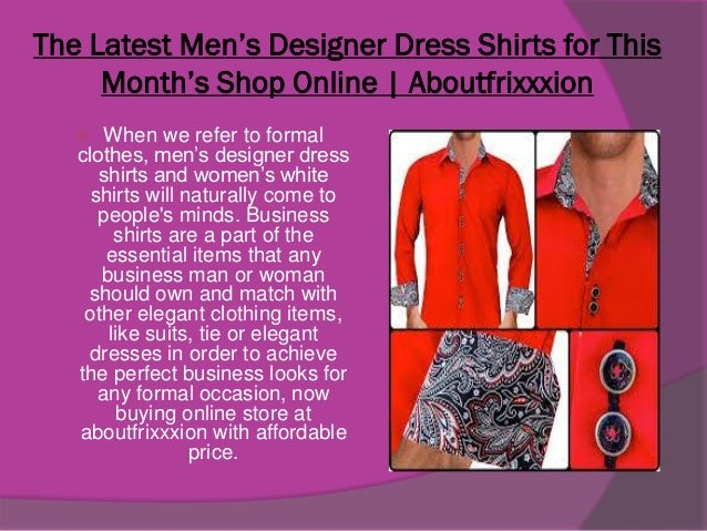 Discount For Men S Designer Dress Shirts Online Shopping Aboutfrixx