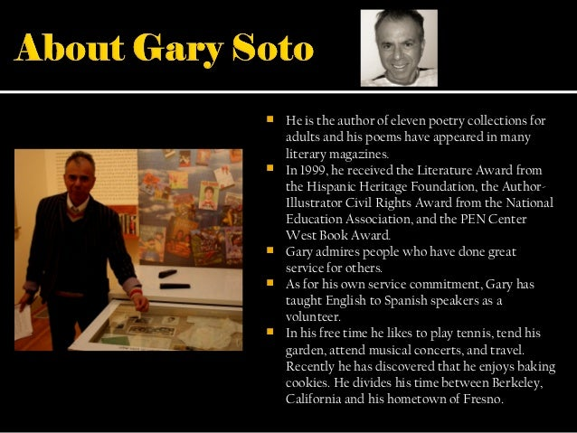 gary soto timed writing 1996 ap english language and composition read carefully the following autobiographical narrative by gary soto timed writing practice.