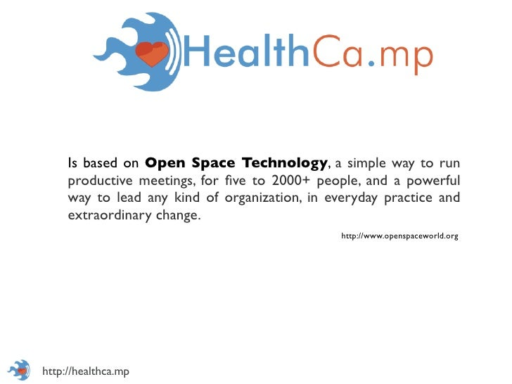 Is based on Open Space Technology, a simple way to run     productive meetings, for five to 2000+ people, and a powerful   ...