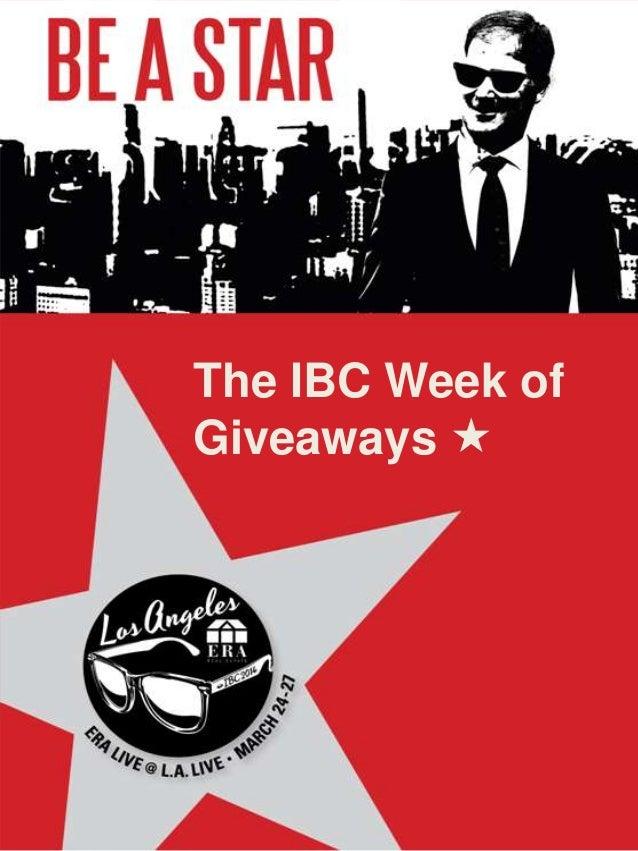 The IBC Week of Giveaways 