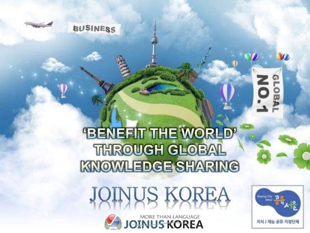  Korea's Number 1 language talent volunteer community of 29 languages (JOKOER:' Language, Culture and Knowledge Communica...
