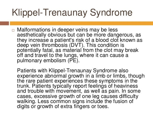 About Klippel Trenaunay Syndrome