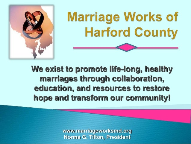 We exist to promote life-long, healthy marriages through collaboration,education, and resources to restorehope and transfo...