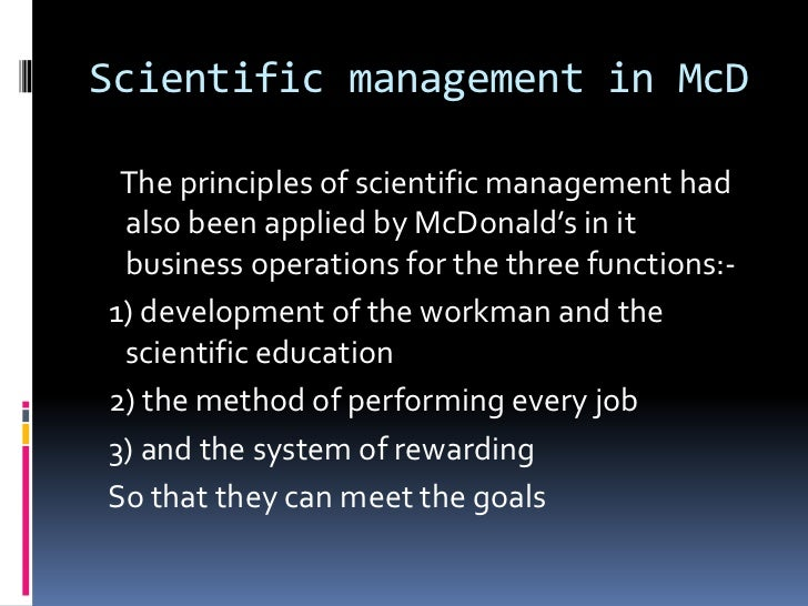 mc donalds service management Mcdonald's jobs at mcdonald's we are committed to being america's best first job explore our restaurant openings and apply today.