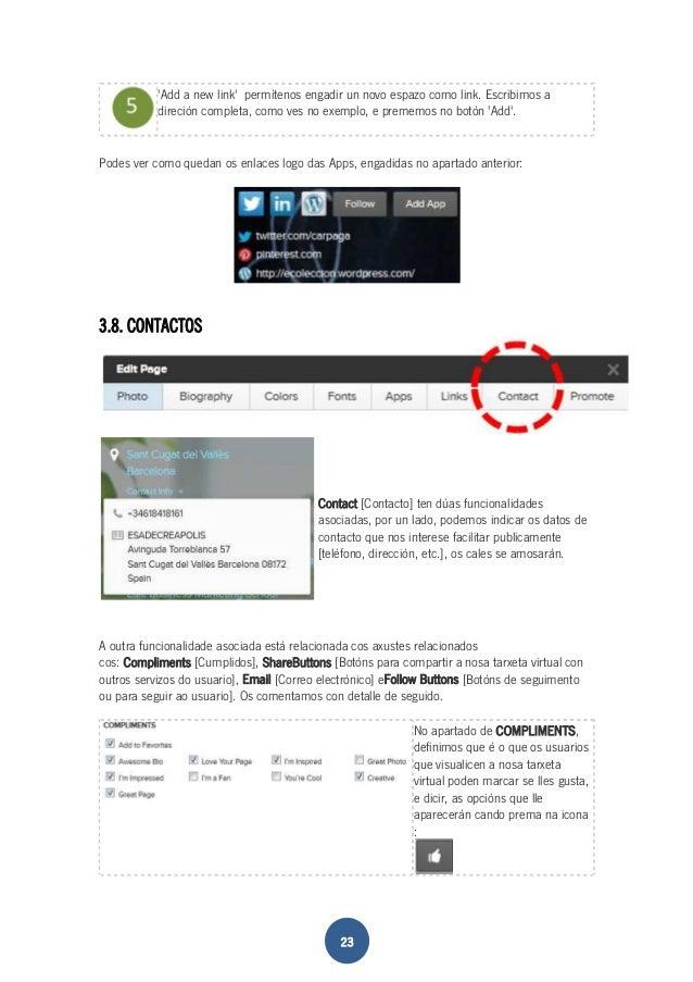 'Add a new link' permítenos engadir un novo espazo como link. Escribimos a  direción completa, como ves no exemplo, e prem...
