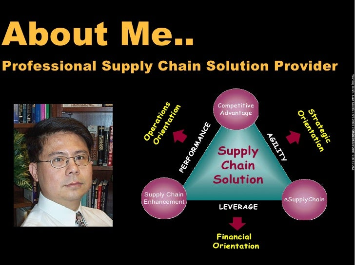 About Me.. Professional Supply Chain Solution Provider                                                                    ...