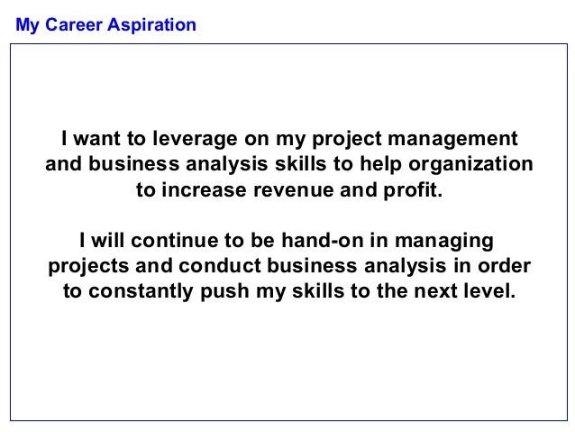 Describe my career aspiration essay