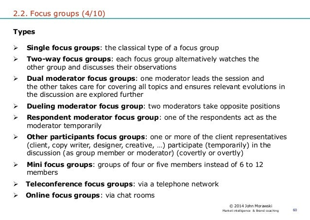 types of focus group discussion pdf