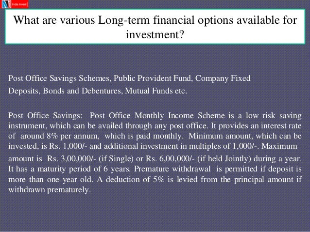 Nj india invest pvt ltd internship presentation - Post office savings bonds interest rates ...