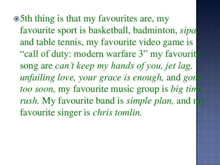 my favorite game essay