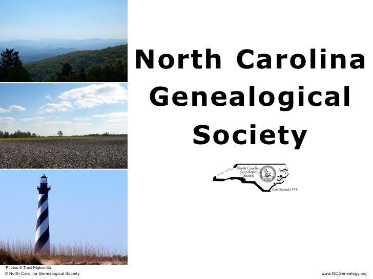 North Carolina                                          Genealogical                                            Society   ...