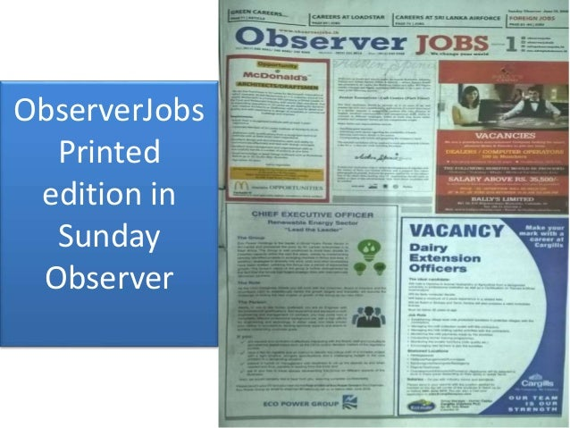 About Observer Jobs