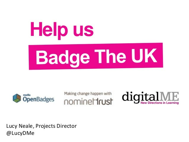Help us  Lucy Neale, Projects Director @LucyDMe