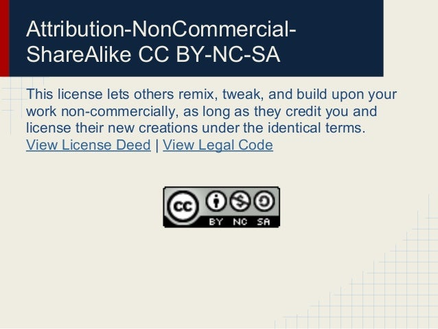 Other Open LicensesIn addition to the licenses published by Creative Commons,which are the most common and straightforward...