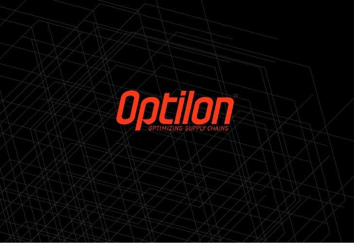 Optilon createssustainable business value through    Supply Chain Optimization.