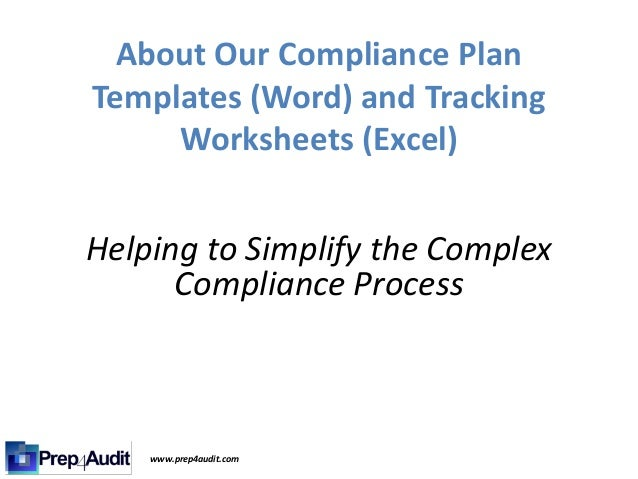 our compliance plan templates and tracking worksheets. Black Bedroom Furniture Sets. Home Design Ideas