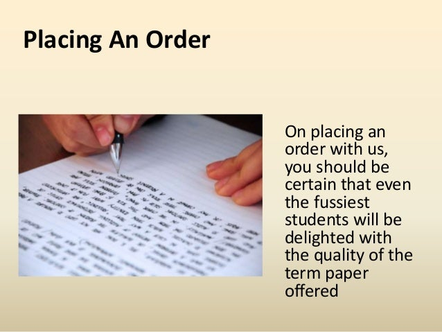 Term paper writing services