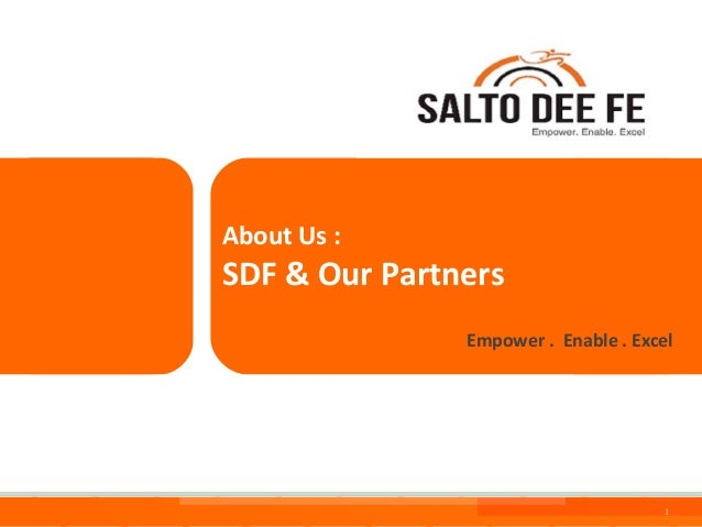 About Us :  SDF & Our Partners Empower . Enable . Excel  Salto Dee Fe Consulting Service  1