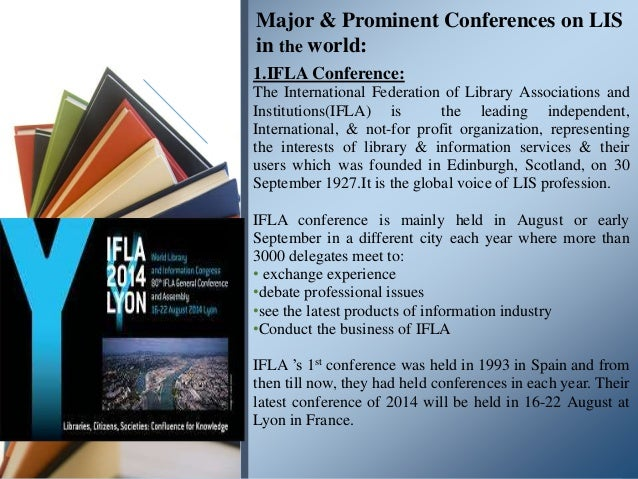About some major& prominent international & South Asian conferences o…