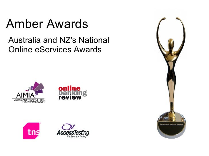 Amber Awards Australia and NZ's National Online eServices Awards