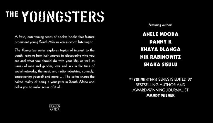 Featuring authorsA fresh, entertaining series of pocket books that feature        ANELE MDODAprominent young South African...