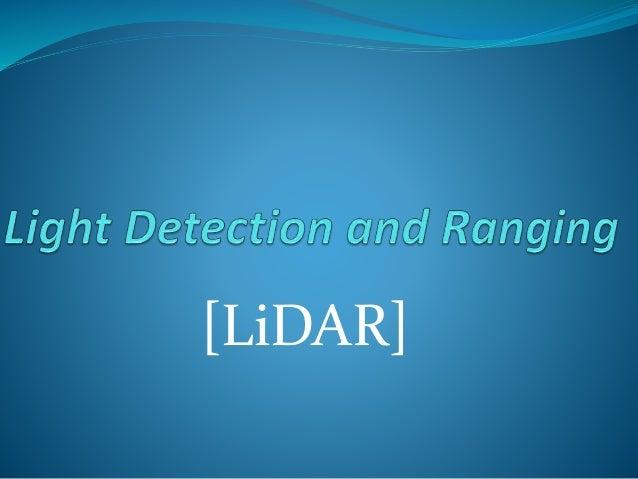 [LiDAR]