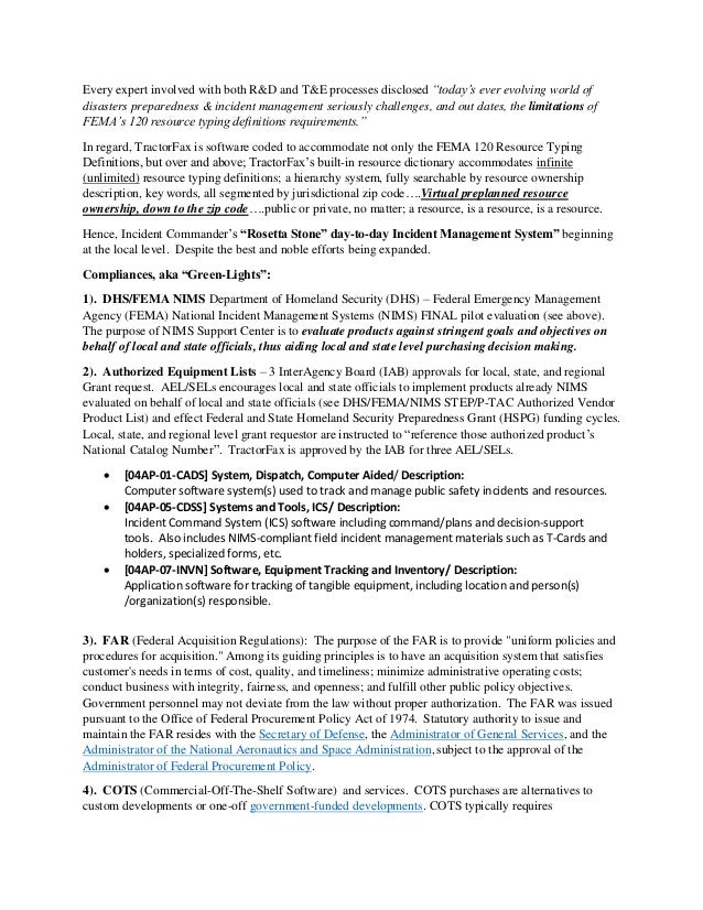 """Every expert involved with both R&D and T&E processes disclosed """"today's ever evolving world of disasters preparedness & i..."""