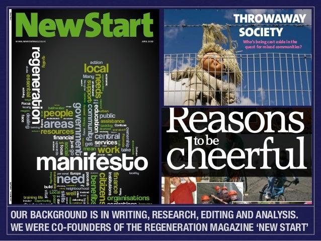 REGENERATION   ECONOMIC DEVELOPMENT   SUSTAINABLE COMMUNITIES  New Start  NewStart WWW.NEWSTARTMAG.CO.UK  APRIL 2010  Apri...
