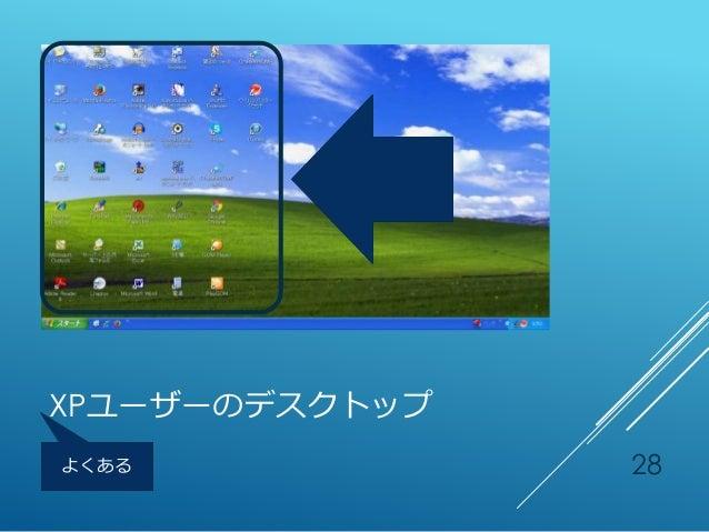 XPユーザーのデスクトップ 28よくある