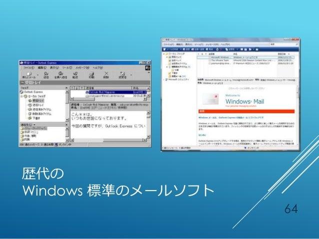 歴代の Windows 標準のメールソフト 64