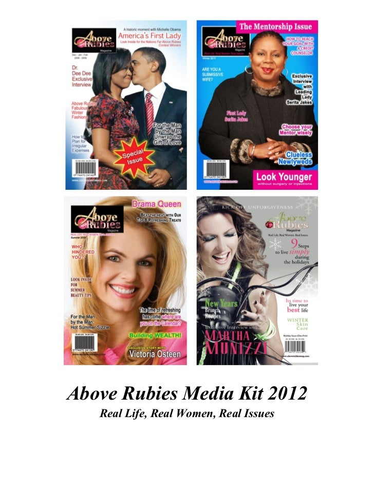 Above Rubies Media Kit 2012   Real Life, Real Women, Real Issues