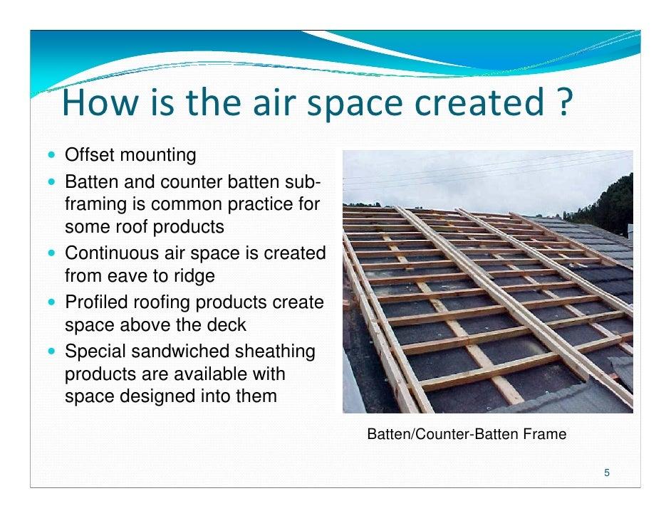 Above Sheathing Ventilation Presentation Mca Scott Kriner