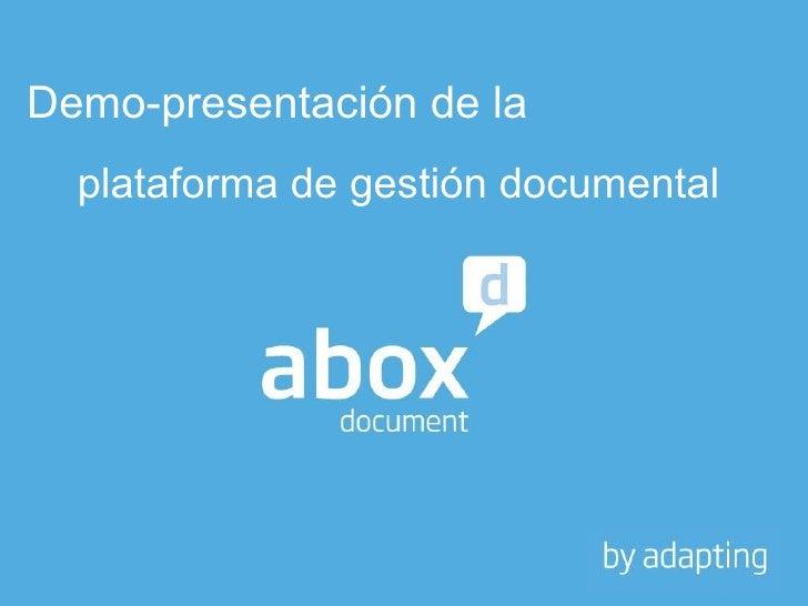 Demo-presentación del  sistema de gestión documental