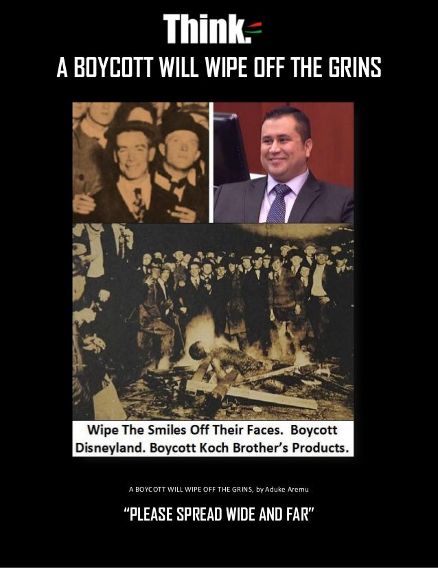 """A BOYCOTT WILL WIPE OFF THE GRINS, by Aduke Aremu """"PLEASE SPREAD WIDE AND FAR"""" A BOYCOTT WILL WIPE OFF THE GRINS"""