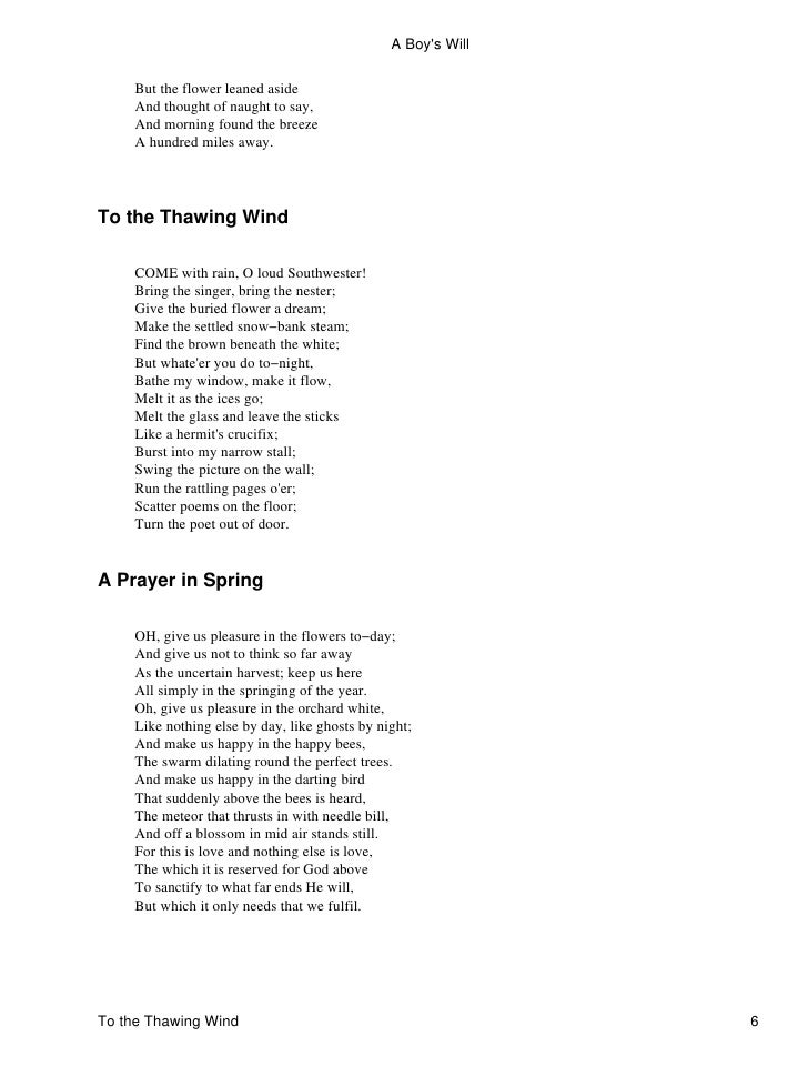 robert frost wind and window flower analysis