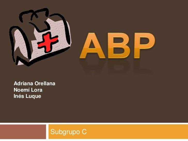Adriana OrellanaNoemí LoraInés Luque              Subgrupo C