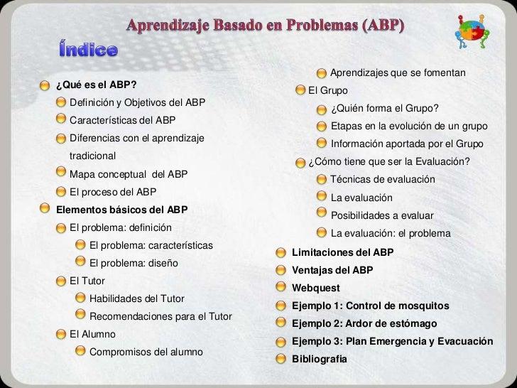 Aprendizajes que se fomentan¿Qué es el ABP?                                         El Grupo  Definición y Objetivos del A...