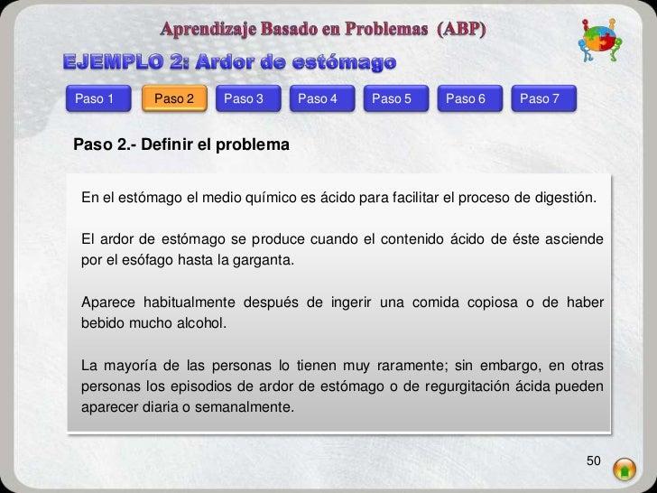 Paso 1      Paso 2     Paso 3     Paso 4      Paso 5     Paso 6      Paso 7Paso 2.- Definir el problema En el estómago el ...