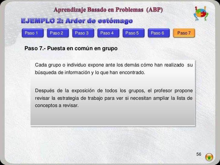 Paso 1    Paso 2      Paso 3      Paso 4      Paso 5      Paso 6      Paso 7Paso 7.- Puesta en común en grupo    Cada grup...