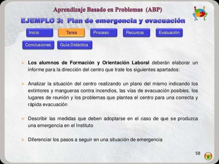 Inicio           Tarea         Proceso     Recursos       Evaluación Conclusiones    Guía Didáctica Los alumnos de Formac...