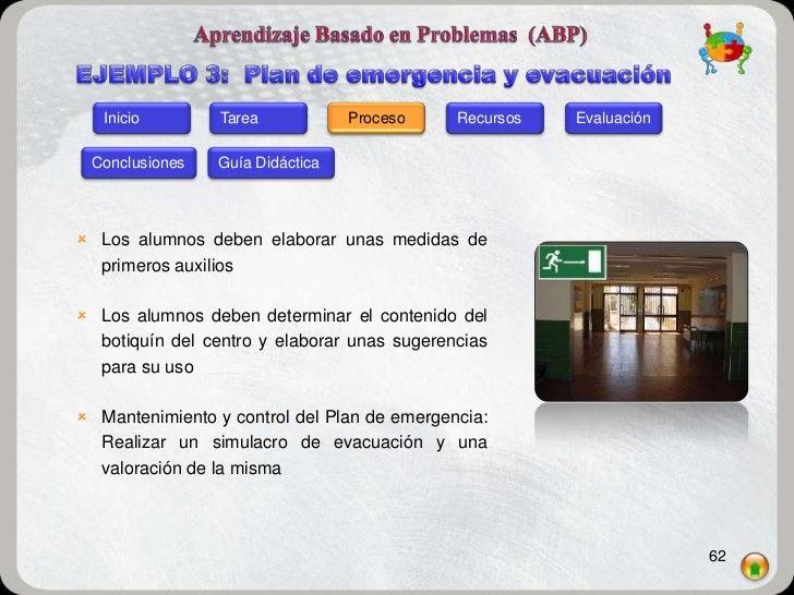 Inicio        Tarea           Proceso     Recursos   Evaluación Conclusiones   Guía Didáctica Los alumnos deben elaborar ...