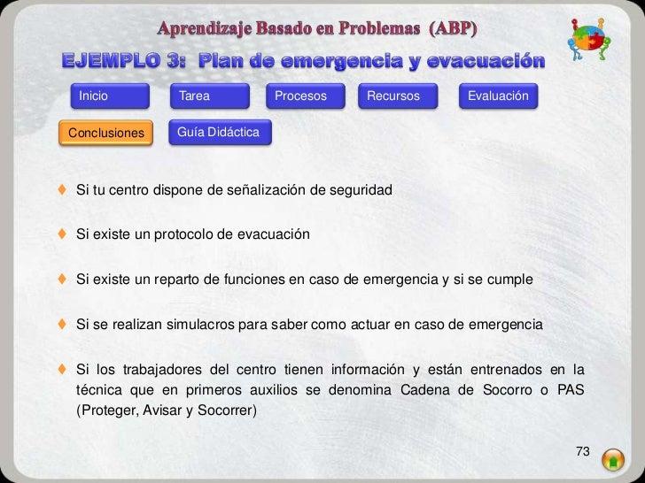 Inicio         Tarea            Procesos    Recursos       Evaluación Conclusiones     Guía Didáctica Si tu centro dispon...