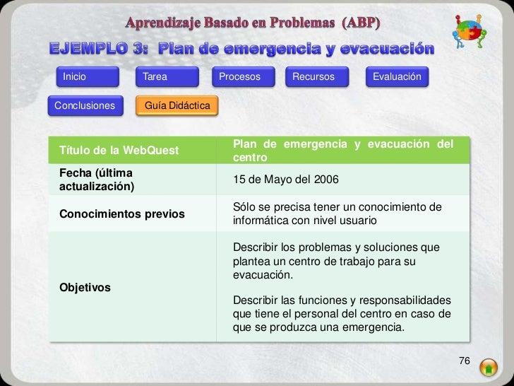 Inicio          Tarea            Procesos     Recursos        EvaluaciónConclusiones     Guía Didáctica                   ...