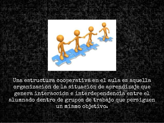 Una estructura cooperativa en el aula es aquella organización de la situación de aprendizaje que genera interacción e inte...