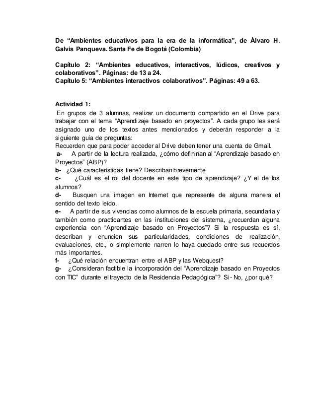 """De """"Ambientes educativos para la era de la informática"""", de Álvaro H. Galvis Panqueva. Santa Fe de Bogotá (Colombia) Capít..."""