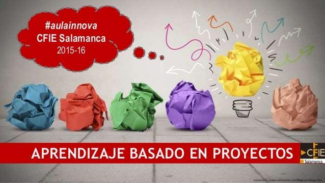 Fuente:http://www.nmformacion.com/blog.asp?vcblog=1220 APRENDIZAJE BASADO EN PROYECTOS #aulainnova CFIE Salamanca 2015-16